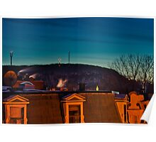 Mont-Royal Summit - Night View Poster