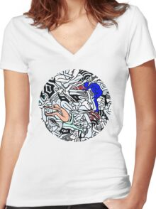 Retro Bodies Women's Fitted V-Neck T-Shirt