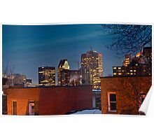 Montreal Skyline - Night Poster
