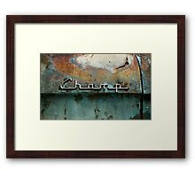 Rusty Studebaker Champ Pickup - Detail Framed Print