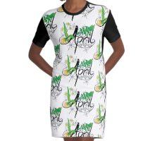 April Graphic T-Shirt Dress