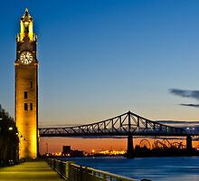 Old Montreal Clock Tower by Michael Vesia
