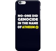 Atheism & Genocide iPhone Case/Skin