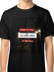 The Last Shadow Puppets- Webster Hall 4/11/16 Classic T-Shirt