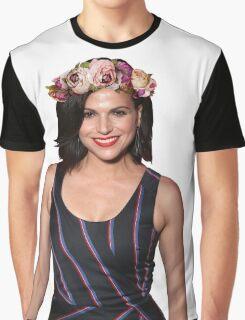 Lana Parrilla Flower Graphic T-Shirt