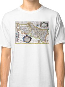 Ancient map of the Kingdom of Portugal - Ortelius Map of Portugal Classic T-Shirt
