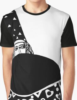 The wizard, vector drawing in black and white Graphic T-Shirt