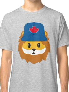 Full Print - Blue Jays No Fear Lion Emoji Classic T-Shirt