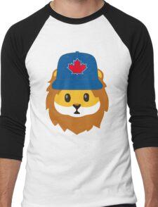 Full Print - Blue Jays No Fear Lion Emoji Men's Baseball ¾ T-Shirt