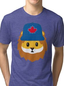 Full Print - Blue Jays No Fear Lion Emoji Tri-blend T-Shirt
