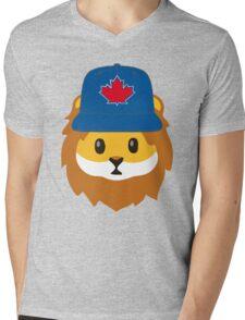 Full Print - Blue Jays No Fear Lion Emoji Mens V-Neck T-Shirt
