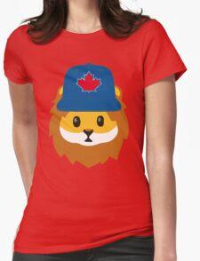 Full Print - Blue Jays No Fear Lion Emoji Womens Fitted T-Shirt