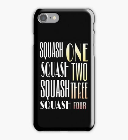 Squash One Murder Song iPhone Case/Skin