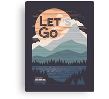 Let's Go Canvas Print