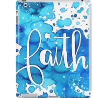 FAITH watercolor Blue iPad Case/Skin