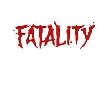 Mortal Kombat Fatality Red Bloody Text Funny Tshirt Photographic Print