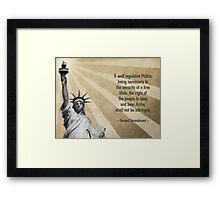 Second Amendment Framed Print