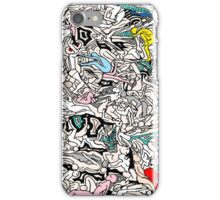 Fun Kamasutra Bodies Figures Doodle in Color iPhone Case/Skin