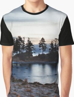 Winter Seascape in Alaska  Graphic T-Shirt