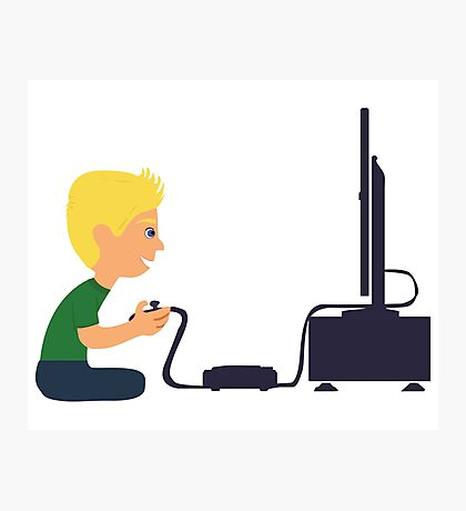 Gamer Boy Photographic Print