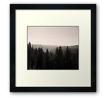 Sepia Tree Lined Valley  Framed Print