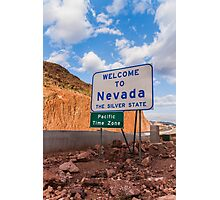 Welcome To Nevada Photographic Print