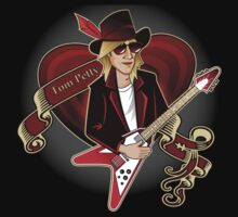 Tom Petty Portrait Kids Tee