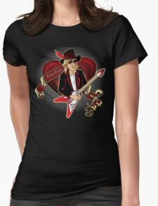 Tom Petty Portrait Womens Fitted T-Shirt