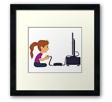 Gamer Girl Framed Print