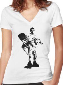 Navin Women's Fitted V-Neck T-Shirt