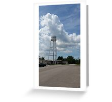 Peculiar Water Tower Greeting Card
