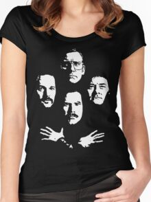 I See a Little Silhouetto of an Anchorman Women's Fitted Scoop T-Shirt