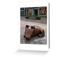 Waiting for the master. Greeting Card