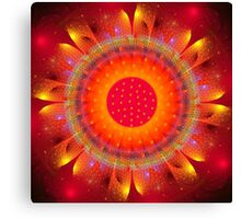 Magical Fire Flower Canvas Print