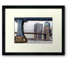 East River Cityscape Framed Print