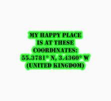 My Happy Place Is At These Coordinates: United Kingdom Unisex T-Shirt