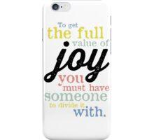 Joy (Mark Twain) iPhone Case/Skin