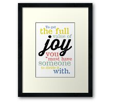 Joy (Mark Twain) Framed Print