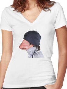Dr Noseman ;) Women's Fitted V-Neck T-Shirt