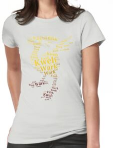 Chocobo Typography Womens Fitted T-Shirt