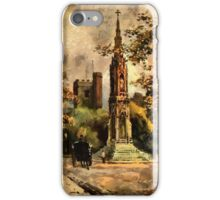 The Martyr's Memorial, Magdalen Street, Oxford 1853 iPhone Case/Skin