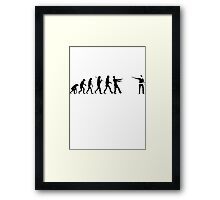 revolution the walking dead Zombie Framed Print