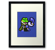 Frog Wins! Framed Print