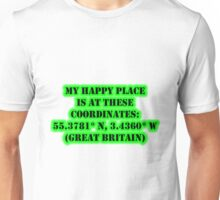 My Happy Place Is At These Coordinates: Great Britain Unisex T-Shirt