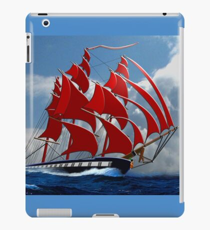 The Clipper Ship Indian Queen Races for Home iPad Case/Skin