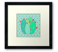 Pear Cactus Framed Print