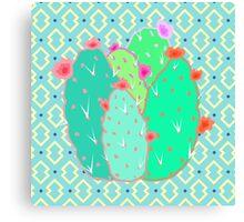 Pear Cactus Canvas Print