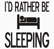I would rather be sleeping Baby Tee