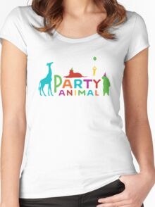 Party ANIMAL Women's Fitted Scoop T-Shirt