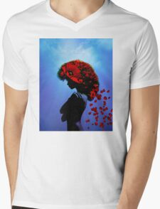 Poppy girl Mens V-Neck T-Shirt